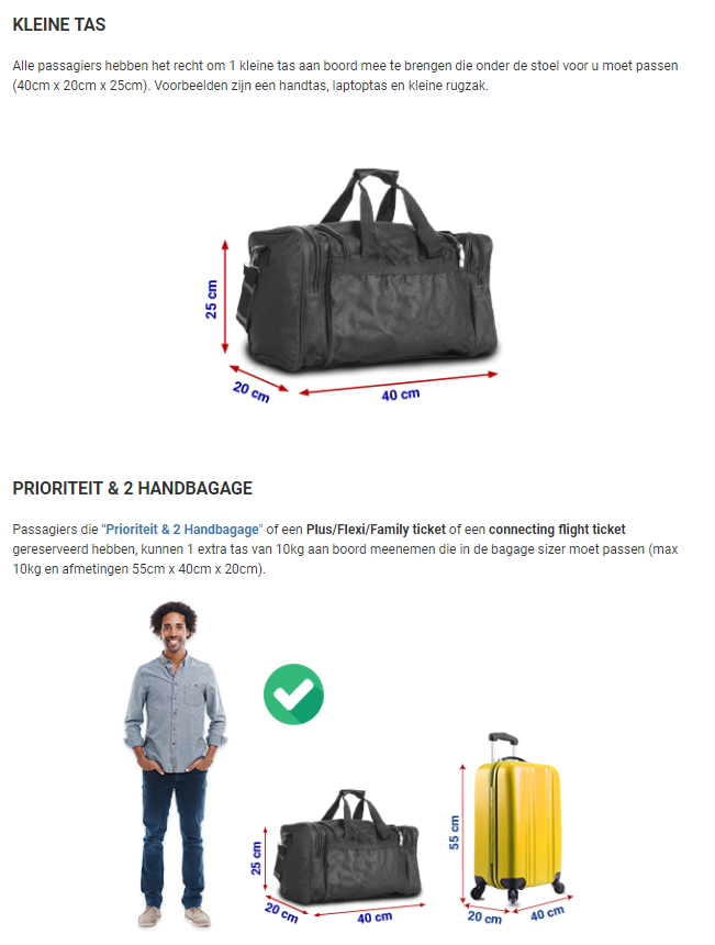 6f61479ce04 Afmetingen Handbagage Ryanair | Let goed op! 40x20x25