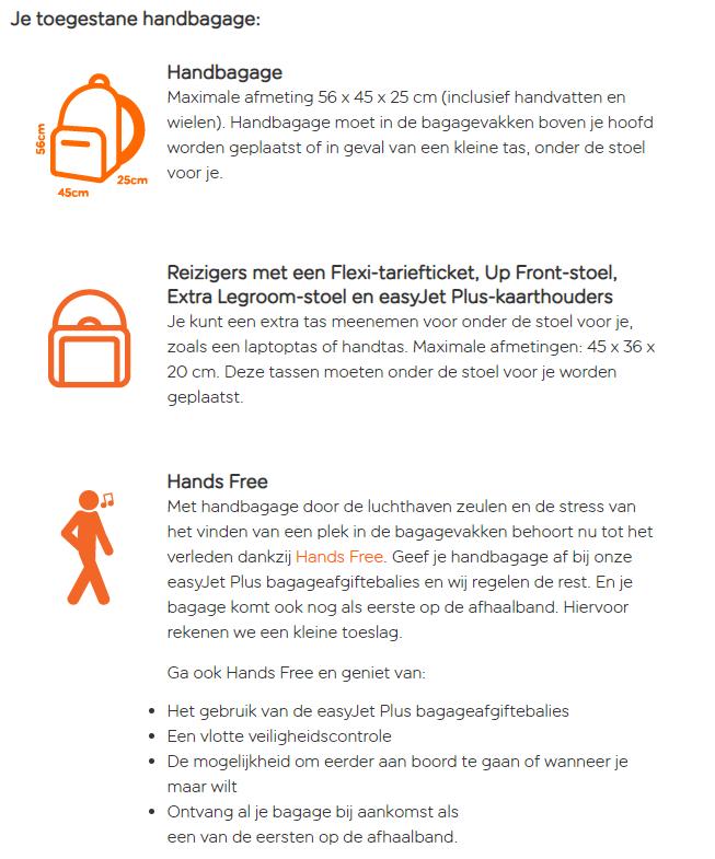 handbagage-easyjet